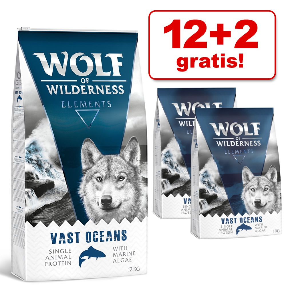 12 + 2 kg gratis! 14 kg Wolf of Wilderness droogvoer – Green Fields – Lam (Soft & Strong)
